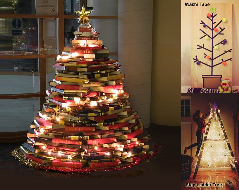 Stack of Books Cristmas Tree