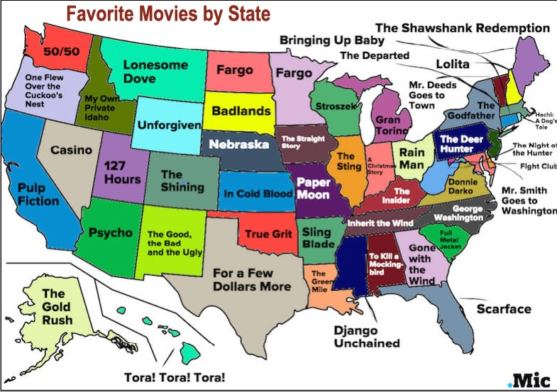 Favorite Movies by State