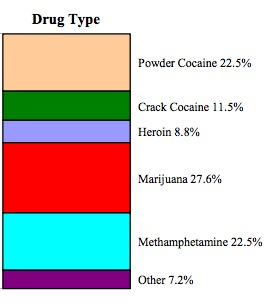 Drug types on arrests