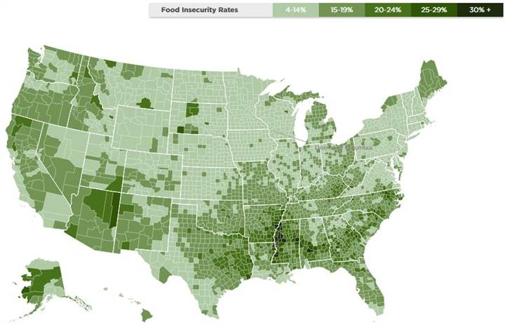 American Food Insecurity Rates 49 Million