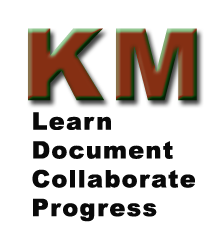 KM Logo - Learn, Document, Collaborate, Progress