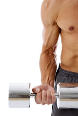 Man Lifting Weight for Exercise